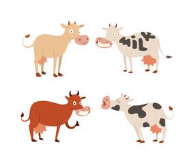 Cartoon cow characters