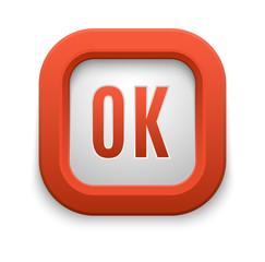 Ok button vector isolated