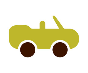 ecological sports car icon