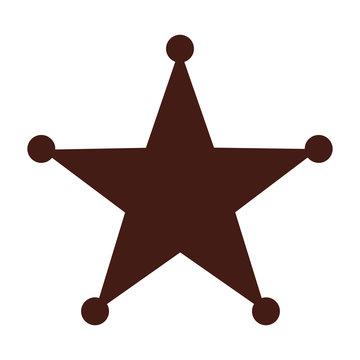 star sherif wild west icon