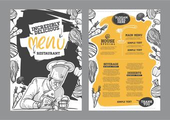 Creative menu design.