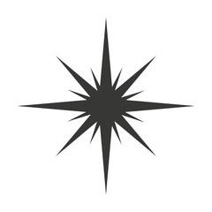 star black silhouette icon
