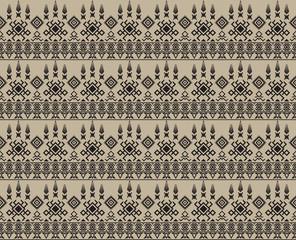 Tribal Aztec Seamless Pattern. Geometric Vector illustration