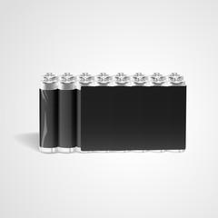 blank batteries set