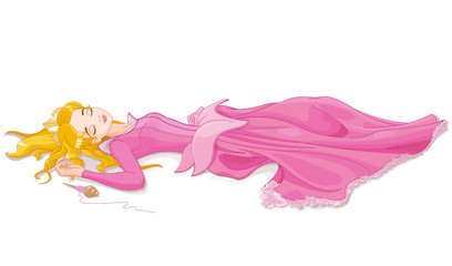 Canvas Prints Fairytale World Sleeping Beauty