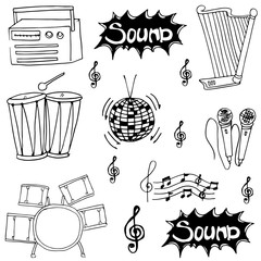 Doodle of musical instrument