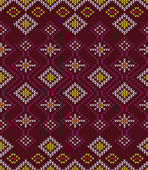 Abstract Tribal Aztec Seamless Pattern. Geometry Vector illustra