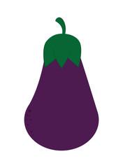 flat design whole eggplant icon vector illustration