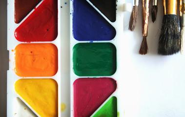 Set of color paints