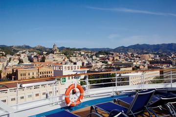 Мессина. Сицилия. Вид на город с корабля.