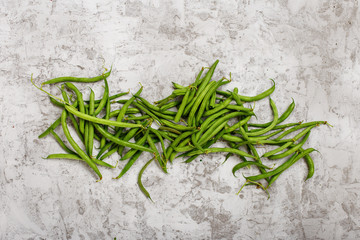 French bean on light surface