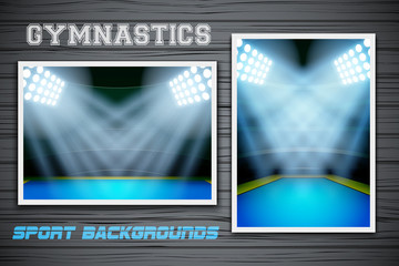 Set Backgrounds of gymnastics arena and stadium