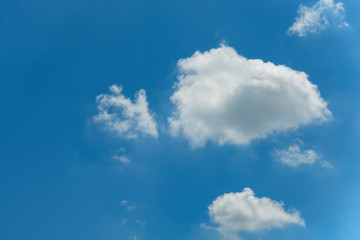 Cloudy on blue skies background, White cloud.