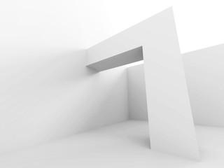 Abstract White Futuristic Modern Architecture Background