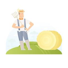 farmer on feld