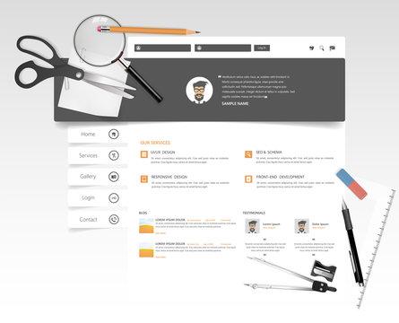 Creative Education Theme Website Template. Vector Website Design.