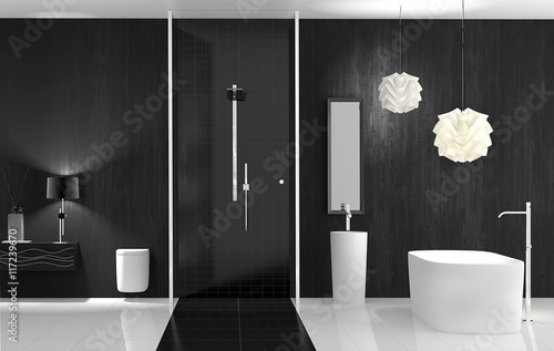 bad mit freistehender wanne und dusche stockfotos und lizenzfreie bilder auf. Black Bedroom Furniture Sets. Home Design Ideas