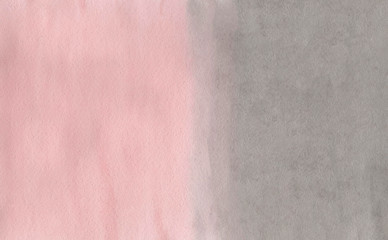Abstract pink and grey watercolor background