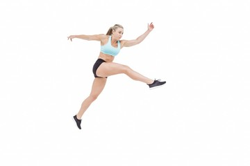 Female athlete jumping