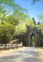 north gate Angkor Thom, Siem Reap, Cambodia