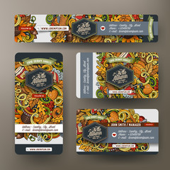 Corporate Identity set with doodles Autumn theme