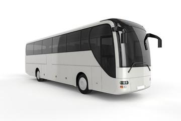 Bus Mock Up on White Background, 3D Illustration