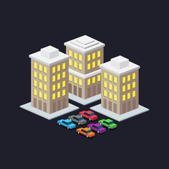 valet parking in a big city