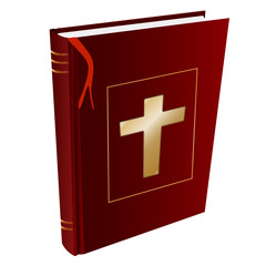 isolated Christian holy book Bible