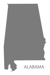 Alabama USA Map grey