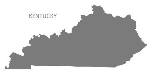 Kentucky USA Map grey