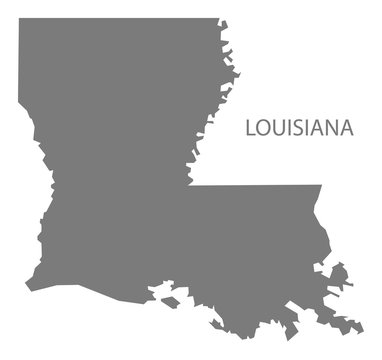 Louisiana USA Map grey