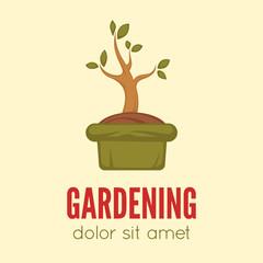 Gardening logo concept template