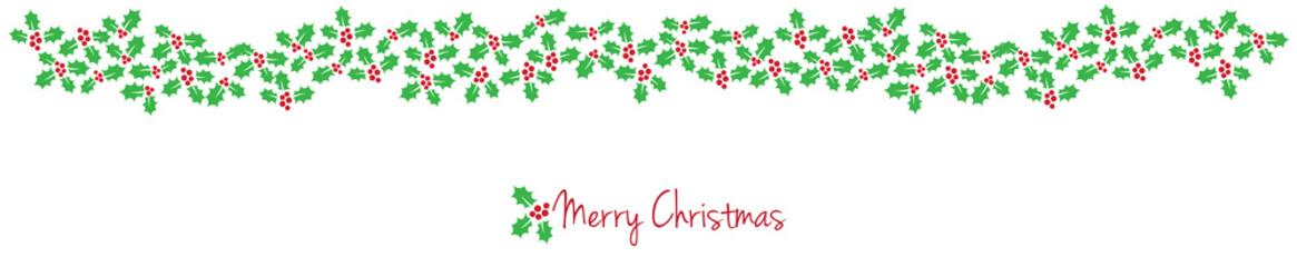 MERRY CHRISTMAS CARD WITH MISTLETOE