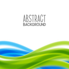Abstract background with blue and green elements
