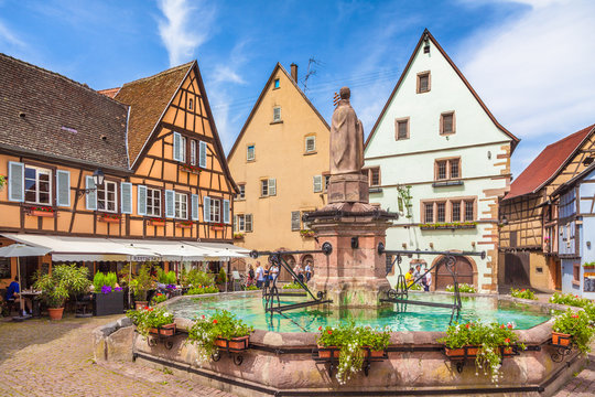 Historic town of Eguisheim, Alsace, France