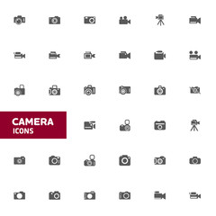 Camera Icon set for web and mobile