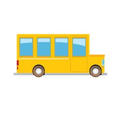 funny cartoon orange school bus