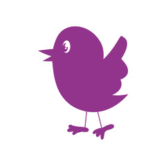 Animal concept represented by bird cartoon icon. Isolated and flat illustration
