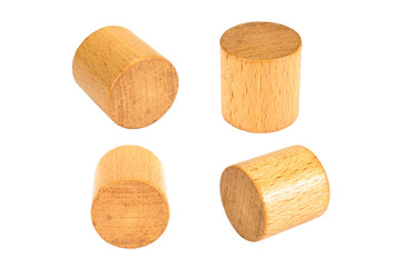 wooden block cylinder shape