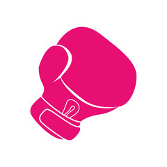 glove boxing sport game pink icon. Isolated and flat illustration. Vector graphic
