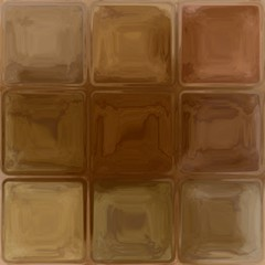 Brown glass green square abstract window