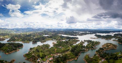 Panoramic view of Guatape Dam (Penol) - Colombia