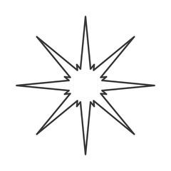 flat design sparkling star icon vector illustration