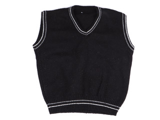 baby black vest over a white background