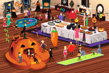 People Having Halloween Party