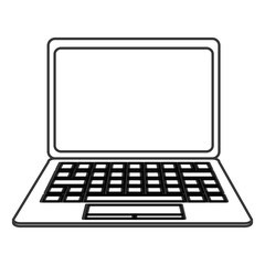 flat design laptop frontview icon vector illustration