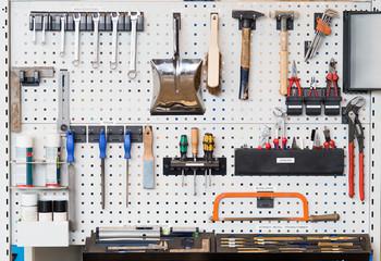 Lean Produktion 5S Werkzeugwand
