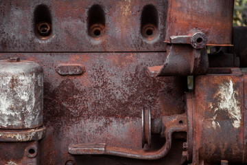 Part of old rusty engine.
