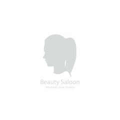 Beauty salon icon with girl. Vector illustration.