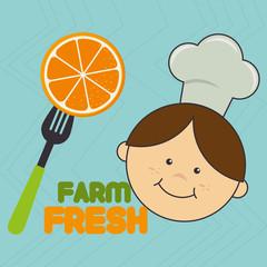 kids farm fresh food